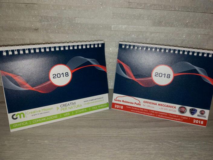 stampa personalizzata calendari 2018